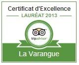 certificat d'excellence La Varangue