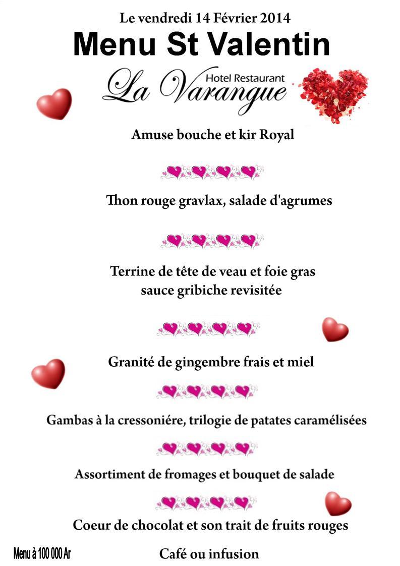 Un joyeux Saint Valentin au Restaurant La Varangue à Tananarive ...